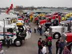 Crowds move among nearly 130 show trucks the opening day of the Mid-America Trucking Show. Photo by Bette Garber.