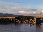 Skagit River Bridge Collapse: Photo via Wikimedia Commons.