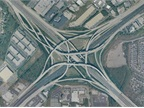 Atlanta's Tom Moreland Interchange. Public domain via Wikipedia.