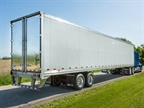 Stoughton's new PureBlue refrigerated trailer. Photo: Stoughton