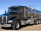 T880 is newly available with a compact 40-inch sleeper that provides legal bunk time for drivers of vocational trucks.