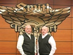 Todd Smith (left) is succeeding Barry Smith (right) as president of Smith Transport. Photo: Smith Transport
