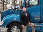 Last year's Transition Trucking: Driving for Excellence award winner Gregg Softy, who served 28 years in the Army before beginning his second career at  Stevens Transport. Photo courtesy of Kenworth