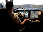 A Celadon Driving Academy student practices his driving skill on a