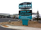 The new Plateau Travel Plaza near Madras, OR, features secure parking for up to 70 tractor-trailers. Photo: Plateau Travel Center