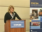 FMCSA Deputy Administrator Cathy Gautreaux tells TRB audience in Washington DC that the agency will keep seeking to reduce regulations without negatively impacting safety. Photo: David Cullen