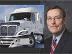 The SCR-equipped ProStar, left, and Troy A. Clarke, who will take over as Navistar CEO April 15.