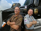 UPS driver Bill Lazarski of Chicago (left) and UPS Freight driver Paul Savill of Cincinnati (right) are fans of the collision mitigation technology that's now standard equipment on every new UPS Class 8 tractor the company orders. Photo courtesy UPS.
