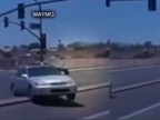 <p><em>Screenshot from Waymo crash in Arizona via ABC15.</em></p>