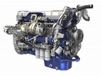 Turbo compounding includes a second turbocharger (to the left of the standard turbo), and a fluid coupling and geartrain to send power to the D13's crankshaft. Photos: Volvo Trucks NA<br />