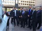 U.S. Energy Secretary Ernest Moniz gets a closer look at the