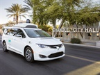 Waymo's fully self-driving Chrysler Pacifica Hybrid minivan. Photo: Waymo