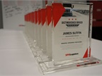 The special commemorative awards given to each XPO 3MM distinguished driver. Photo: XPO Logistics