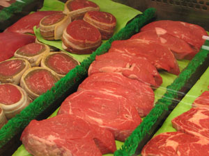 Meat was one of the hot items targeted for theft.