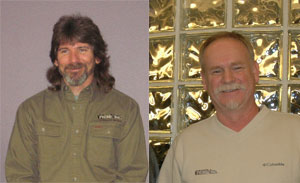 Jeff Ayers, left, and John Valentine each reached the 3-million-mile safe driving mark with Prime Inc.