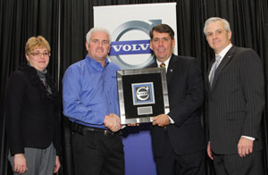 From left: Kelly Sheehan, chair, Volvo's Dealer Advisory Council; Bob Neitzke, GATR dealer principal; Ron Huibers, president, Volvo Trucks North American sales & marketing; Terry Billings, Volvo Trucks vice president, sales – U.S.