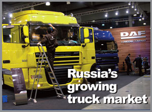 Paccar subsidiary DAF, shown here at COMTRANS, is establishing itself on the Russian market with a new office in Moscow, just opened.