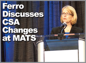 Anne Ferro speaks at the MATS Fleet Forum. (photo by Justin Miller)