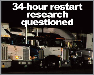 Truck drivers were not among the subjects studied in research used to justify requiring two midnight-to-6-a.m. rest period in the 34-hour restart in the FMCSA's new hours of service proposal. (Photo by Jim Park)
