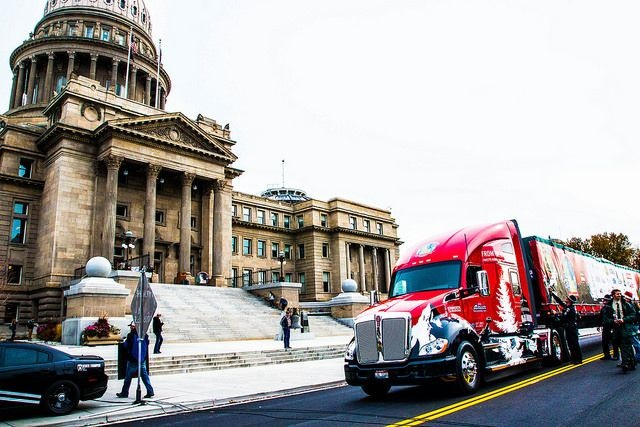 The U.S. Capitol Christmas Tree Tour makes a stop at the state capitol