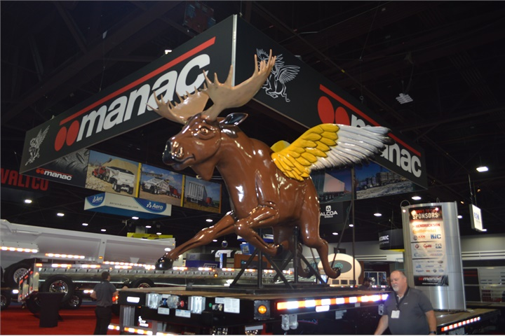 Manac s Flying Moose patrols the show floor. Photo: Jack Roberts