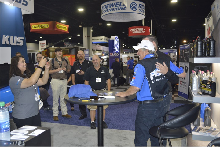Peak Coolants attracted a crowd with Funny Car driver John Force.