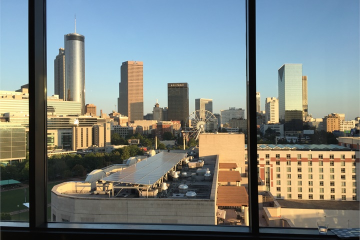 View of Atlanta from a Bendix customer reception. Photo: Deborah