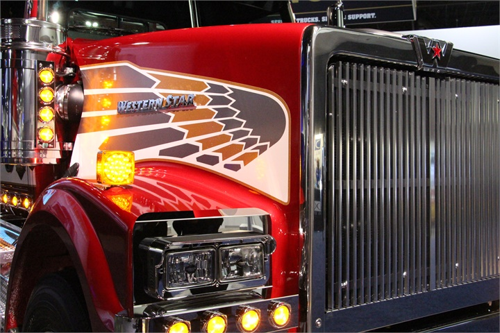 Western Star s anniversary was prominently on display. Photo: Evan