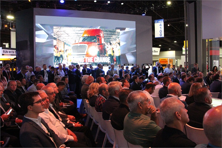 A crowd of investors and journalists was eager to hear what Navistar