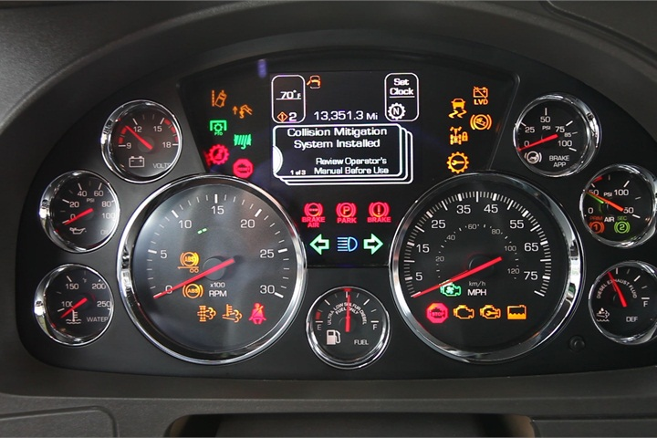 The Dash Display Offers Warnings And Incentives To Drivers