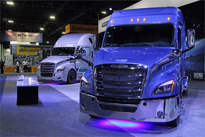 Daimler s booth was highly visible as attendees entered the show.