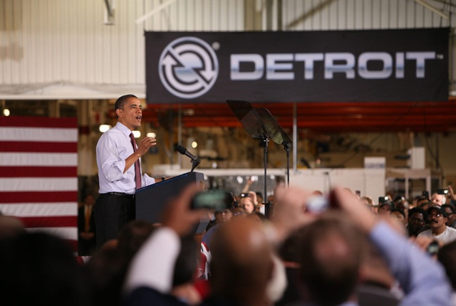 President Obama announcing Daimler is making a $120 million investment in the U.S. plant to build automated transmissions here.