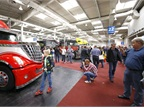 A special hall for truck enthusiasts and collectors included an