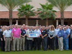 The more than 80 attendees of the inagural Heavy Duty Trucking Exchange were all smiles during the group photo.