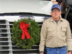A driver proudly supports Wreaths Across America. The Worcester s