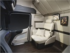 The passenger seat is replaced by a lounge chair for the driver s