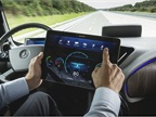 Gone is the traditional dashboard, replaced by a dockable tablet