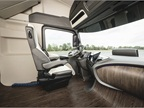 The accompanying images show a rather fanciful white leather seat and