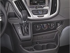The Ford Transit s ergonomic center instrument panel controls and