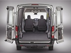 The rear hinged 50/50 cargo doors swing open 180 degrees on the