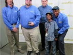 Goodyear s Highway Hero, Julian Kaczor, center, and finalists enjoy a