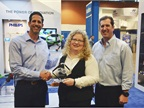 Accepting Phillips Industries  Top 20 award for the Lite-Sentry from