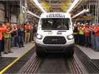 Ford has produced more than 100,000 Transit vans and wagons at Kansas City Assembly Plant during the 2015 model year.