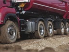 MAN s series of dump trucks with all wheel drive and Euro 6.