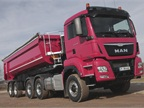 MAN s series of dump trucks with AWD and Euro 6.
