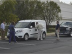 Ram Commercial gave attendees an opportunity to test a ProMaster City