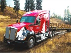 The Kenworth T680 makes its way to a staging location 5 miles from the