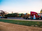 Gary Amoth Trucking s Kenworth T680 arrives early Monday morning (Nov.