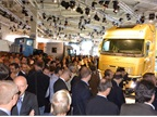 The most crowded press conference was when Volvo Trucks president