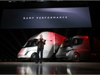 In a wild press launch, Tesla founder and CEO finally showed his